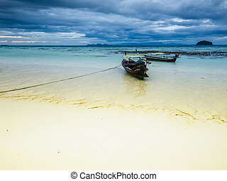 Cloudy morning on Koh Lipe island. Thailand