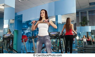 Exercising At The Gym - Young Women Exercising At The Gym