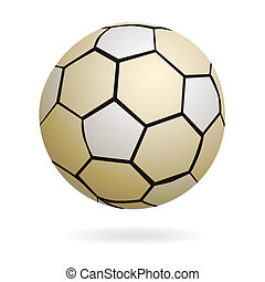 Isolated handball soccer ball - Illustration of cool...