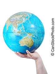 World in your hands - Hand holding the globe