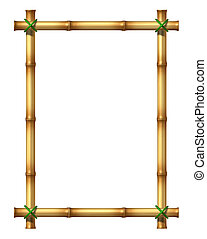 Bamboo Blank Frame - Bamboo sticks blank frame as an exotic...