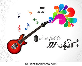 abstract colorful musical guitar background illustration
