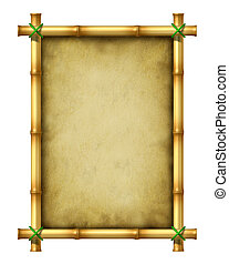 Bamboo Frame - Bamboo blank frame as an exotic decorative...