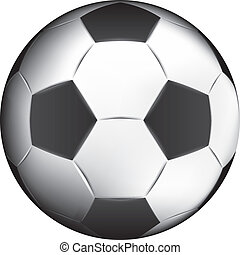 soccer ball painted in Illustrator - sport soccer ball...
