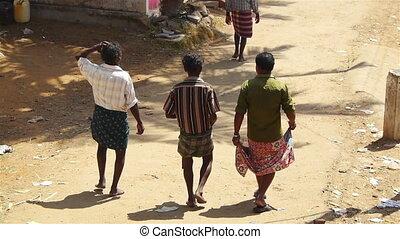 Walking indians men