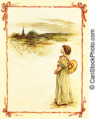 Girl in a countryside