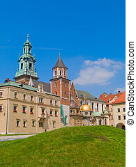 roal castle at Wawel hill, Krakow, Poland - inner yard of...
