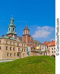 roal castle at Wawel hill, Krakow, Poland - inner yard of...