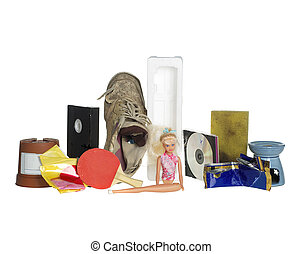Garbage Dump - Stack of Garbage Dump on white background