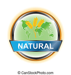 Natural icon - Natural web icon on a white background