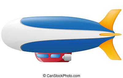 zeppelin, vector, Ilustración
