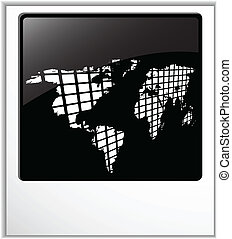 the vector blank photos with map