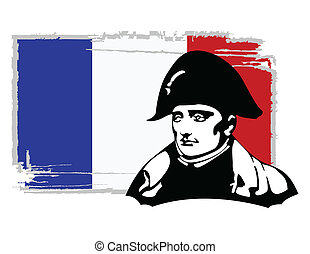the vector Napoleon Bonaparte head