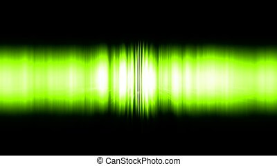 dazzling green noise rays light in space,audio rhythm,static...