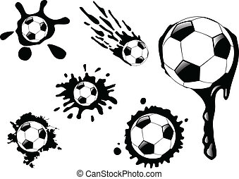 the vector soccer ball blot