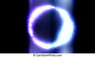 flare blue stars shaped circle