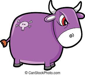 Mean Nasty Bull Cattle Animal