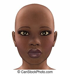 African Face - Illustration of the face of an african female...