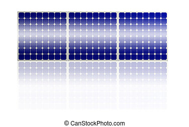 Solar Panel system isolated on white background