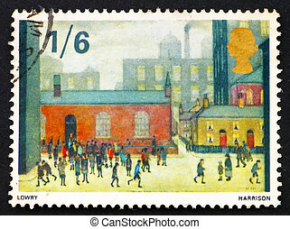 Postage stamp GB 1967 Children Coming out of the School -...