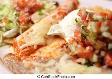 Enchilada, placa,  Tostada