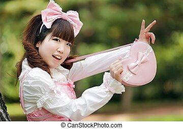 japanese fashion girl - japanese woman in sweet lolita...