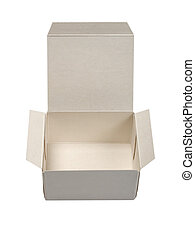 cardboard box - open cardboard box isolated on white...