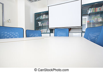 Conference room interior at day