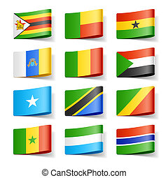 World flags Africa - Vector illustration of world flags...