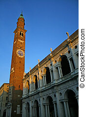 Tower in the center of the Palladian Basilica in Vicenza in...