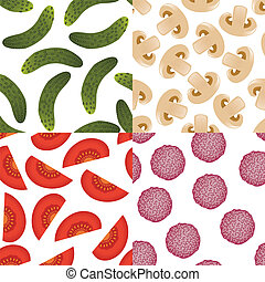 foods seamless patterns