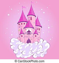 princess castle - Vector illustration of a beautiful castle...