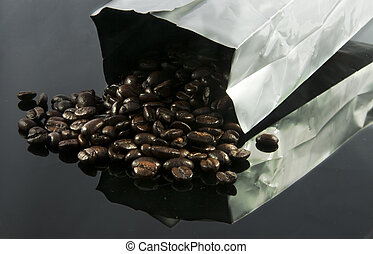 sack coffee - sack with coffee beans