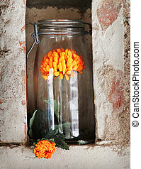 nice glass with flower