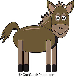 Happy Cartoon Horse - simple drawing of a happy cartoon...