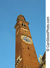 Tower in the center of the Palladian Basilica in Vicenza