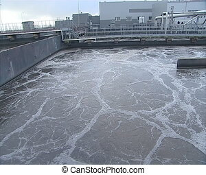 sewage water clean pool - Sewage water treatment tank...