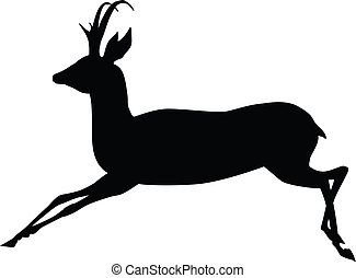 Vector antelope - Running antelope silhouette Vector eps8...