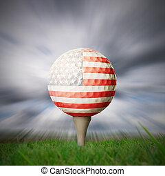 american flag golf ball - american flag printed onto golf...