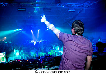 Dj at the concert  - Dj at the concert, laser show and music
