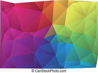 colorful vector background - abstract wrinkled colorful...