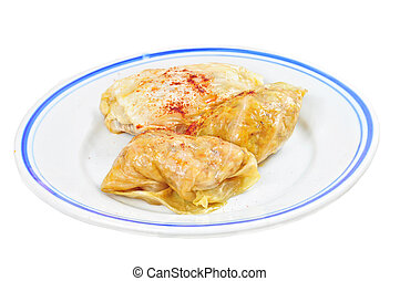 Traditional lenten fare from the Balkans - sarma, isolated
