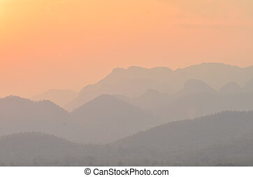 Mountain Landscape at Sunset
