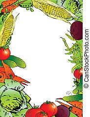 Vegetables frame.