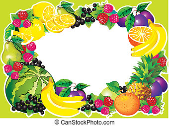 Fruits frame.