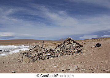 Stone house in the Altiplano