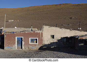 A old house in the desert