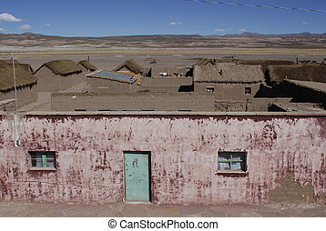 Old house in the Altiplano - an old house in a little...