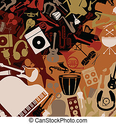 Musical background3 - Background from musical instruments. A...