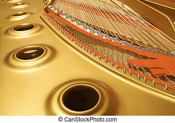 high professional piano - interior of an expensive and high...